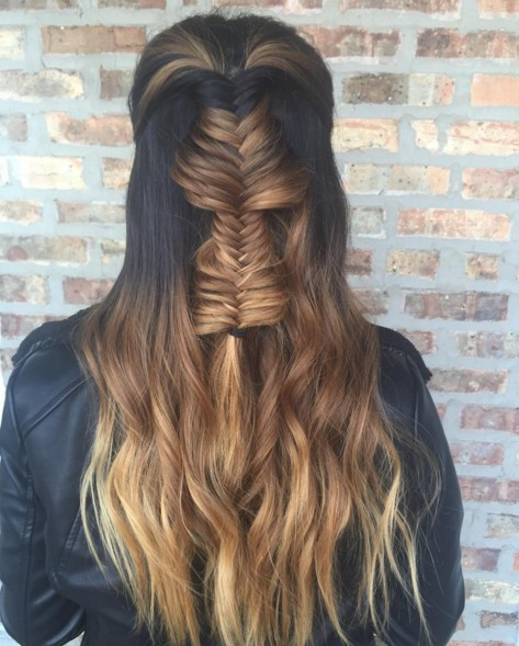 Marvelous Half Up Down Braid Hairstyle Braids Hairstyle Inspiration Daily Dogsangcom