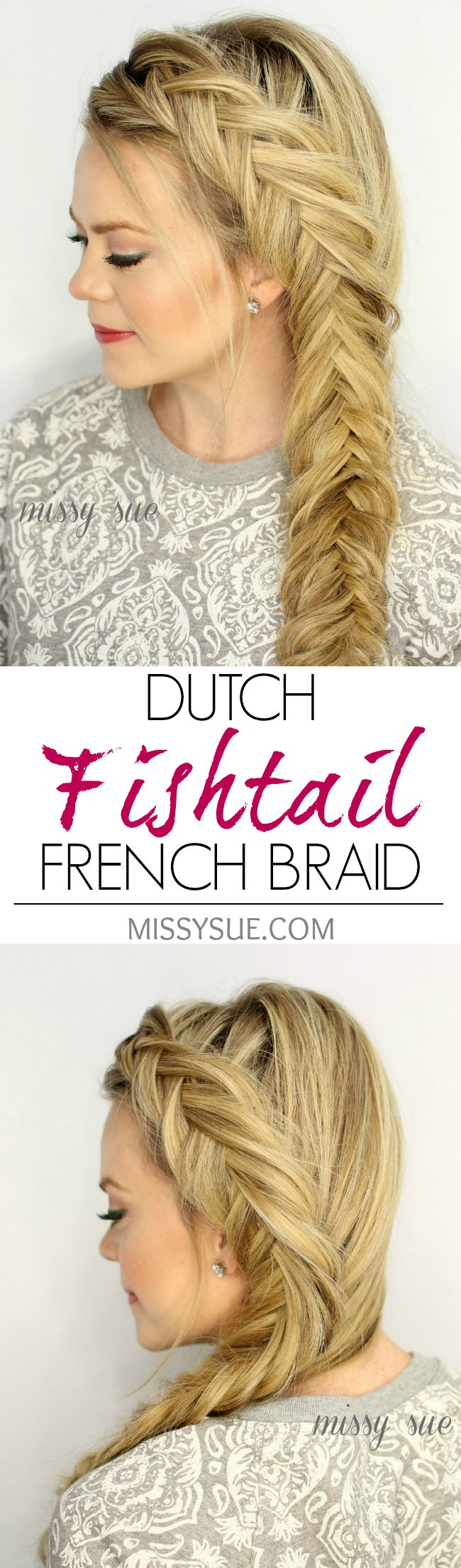 how to make a french fishtail braid step by step