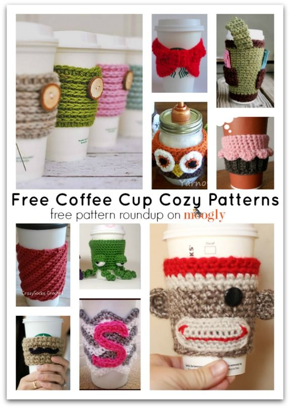 Free Knitting Pattern Coffee Cup Sleeve : 20 Gifts to Warm Your Friends for Winter - Pretty Designs
