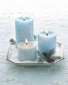 Frosty Salted Candle