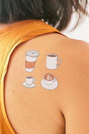 Funny Coffee Temporary Tattoos