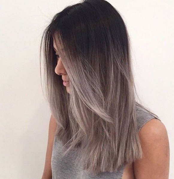 Grey Ombre Hairstyle