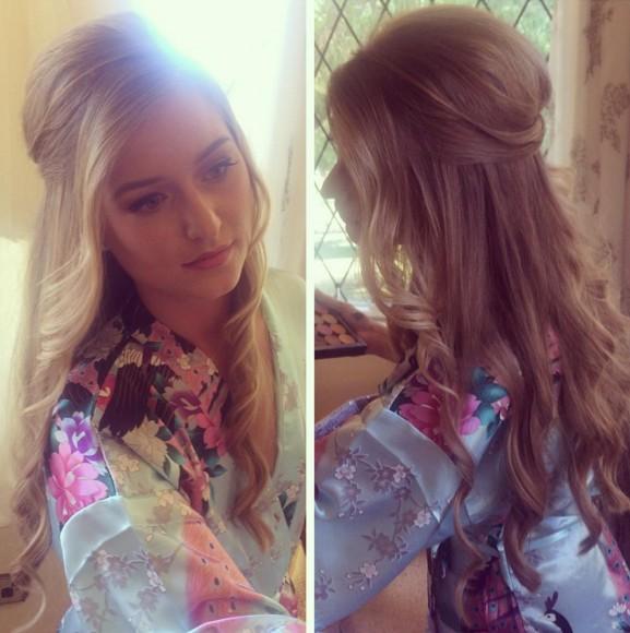Half Up Half Down Hair for Bridesmaid Hairstyles