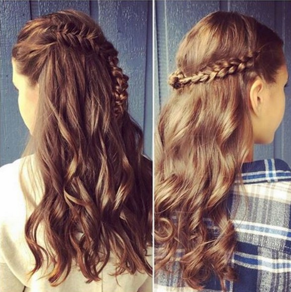 Crochet Hair Half Up Half Down : Half Up Half Down Hairstyle for Long Hair