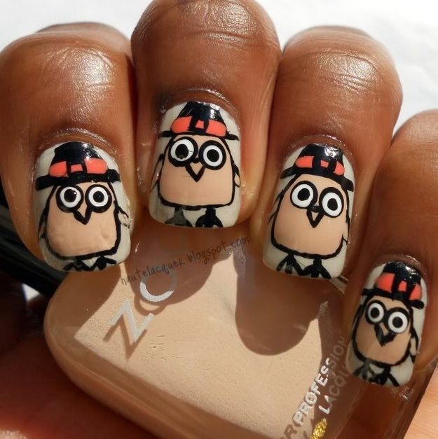 25 Thanksgiving Day Nail Arts For Girls