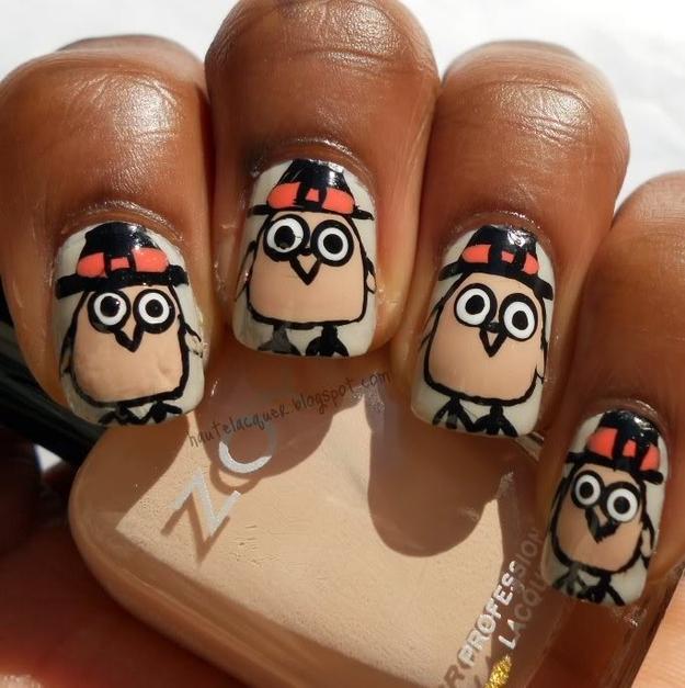 Happy Turkey Nails