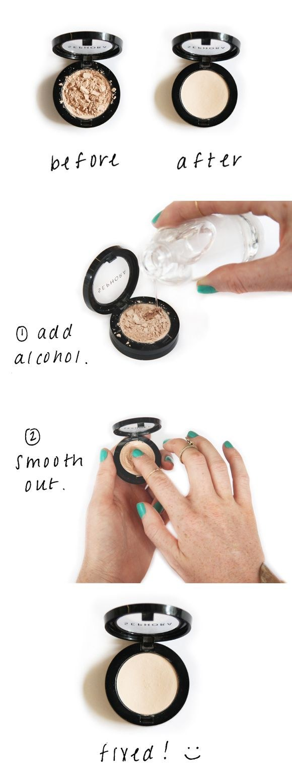 How to save the cracking makeup powder