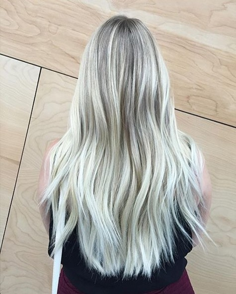 Long Blond Ombre Hairstyle