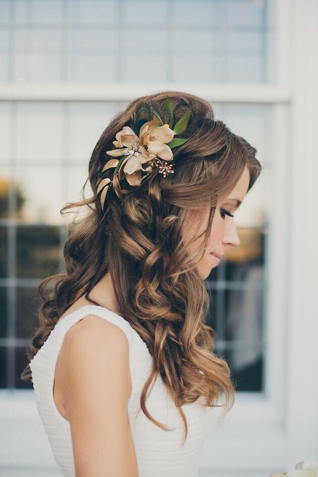 hair curly styles for weddings 16 charming wedding hairstyles for 2019 pretty designs 3643