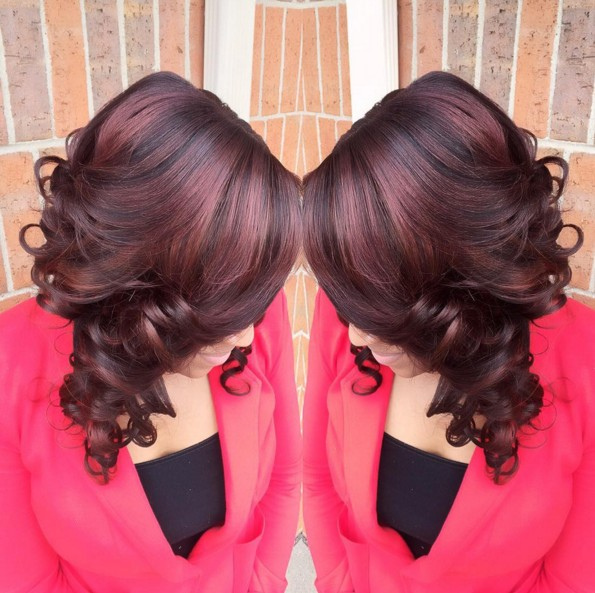 Long Curly Hairstyle for Red Hair