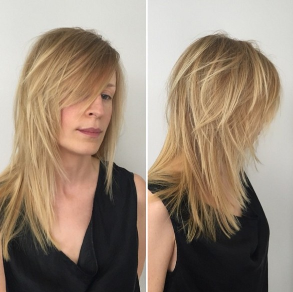 Long Layered Haircut for Blond Hair