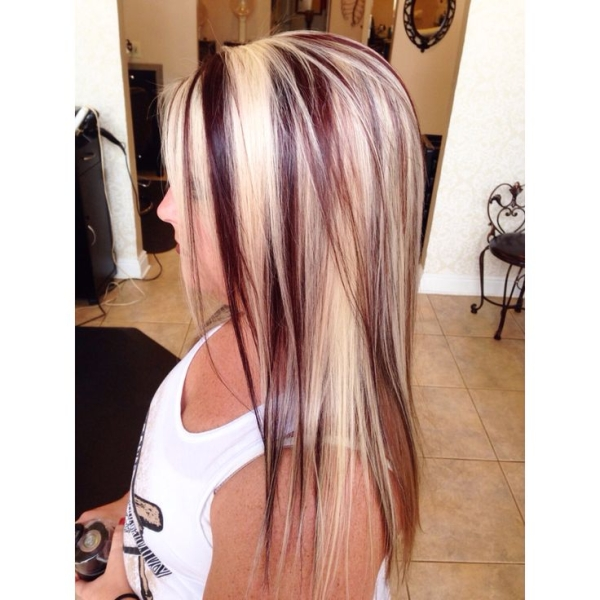 14 Charming Blond Hairstyles with Red Highlights - Pretty ...