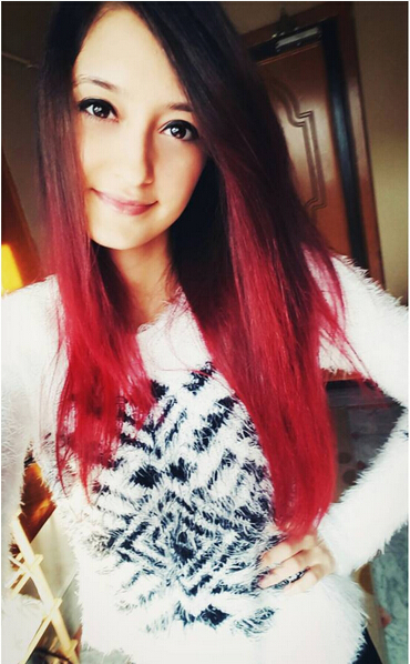 Long Straigth Red Ombre Hair