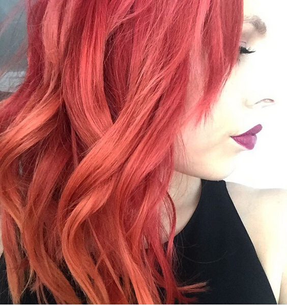 Long Wavy Red Hair