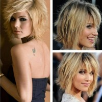 Medium Shaggy Hairstyle for Girls