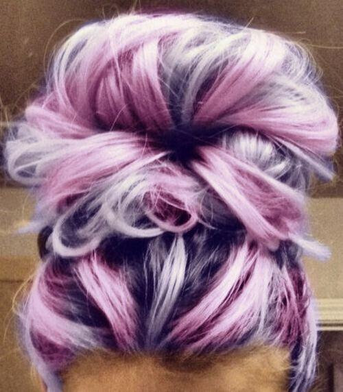 Awe Inspiring 20 Romantic Purple Hairstyles For 2016 Pretty Designs Short Hairstyles Gunalazisus