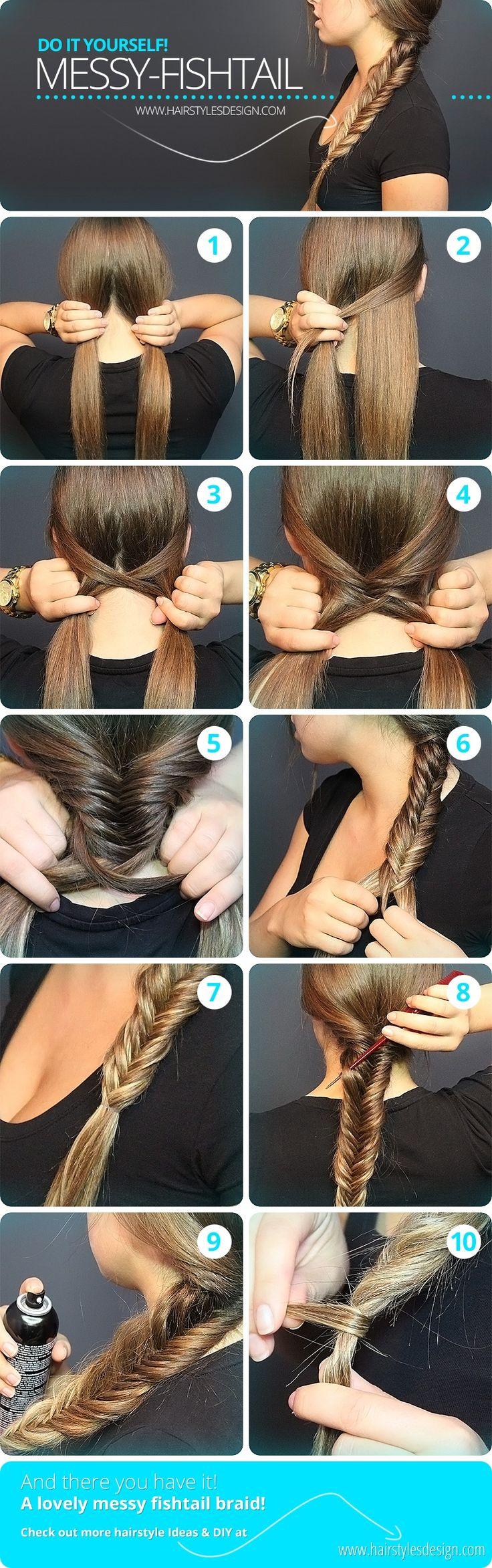 15 diy braided hair tutorials for winter pretty designs messy fishtail solutioingenieria Images