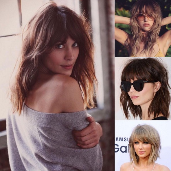 Modern Shaggy Hairstyles with Bangs
