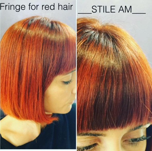 Ombre Bob Haircut for Orange Hair