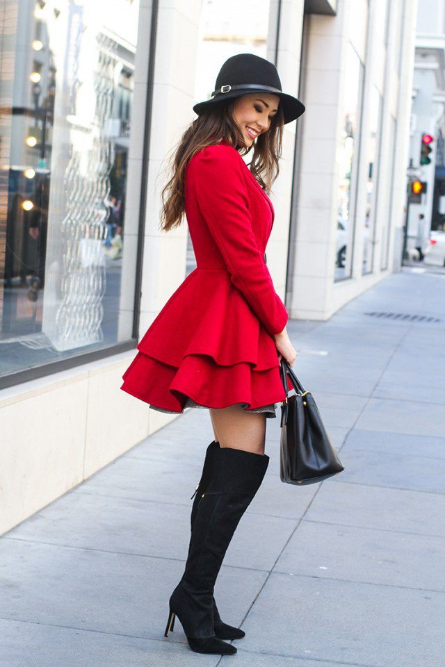 12 Trendy Ways to Wear Over the Knee Boots - Pretty Designs