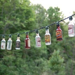 Patio Party Lights with Bottles