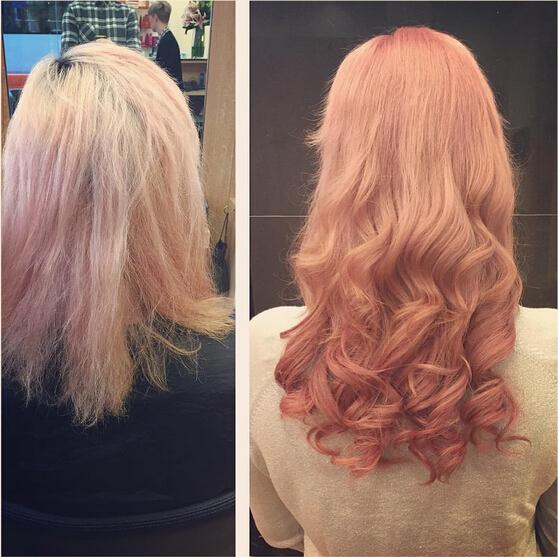 Long Pink Wavy Hair