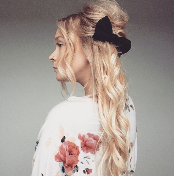 Pretty Half Up Half Down Hairstyle
