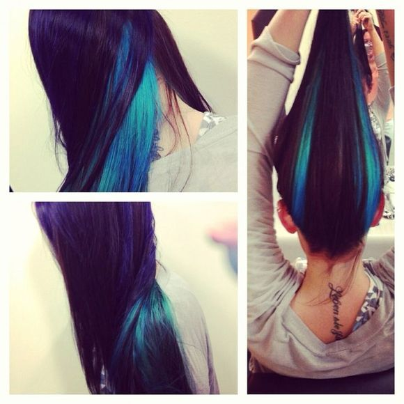Purple and Blue Hairstyle