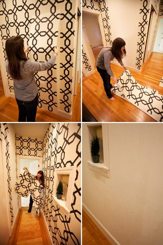 21 home decorating ideas with removable wall paper for Temporary vinyl wallpaper