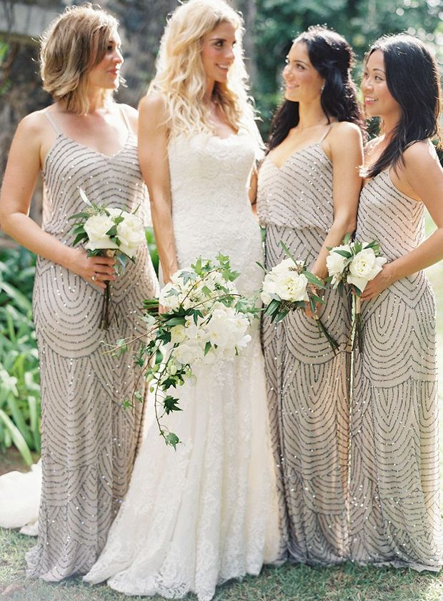 Light Grey Colored for Bridesmaids Dresses