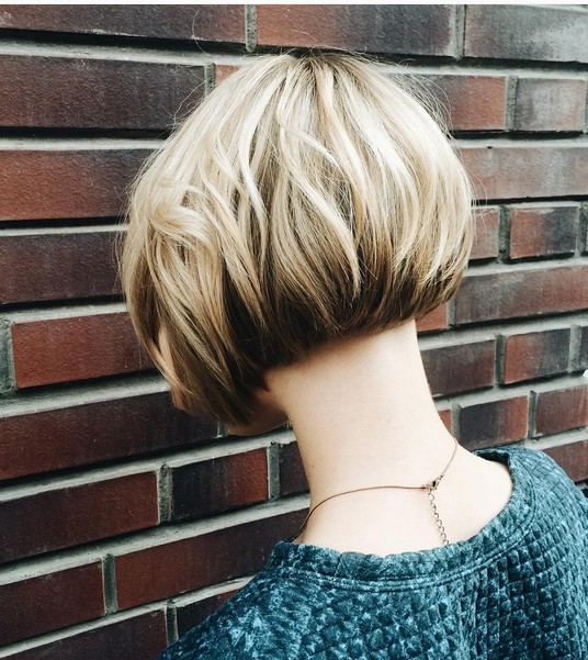 Short Bob Hairstyle for Ombre Hair