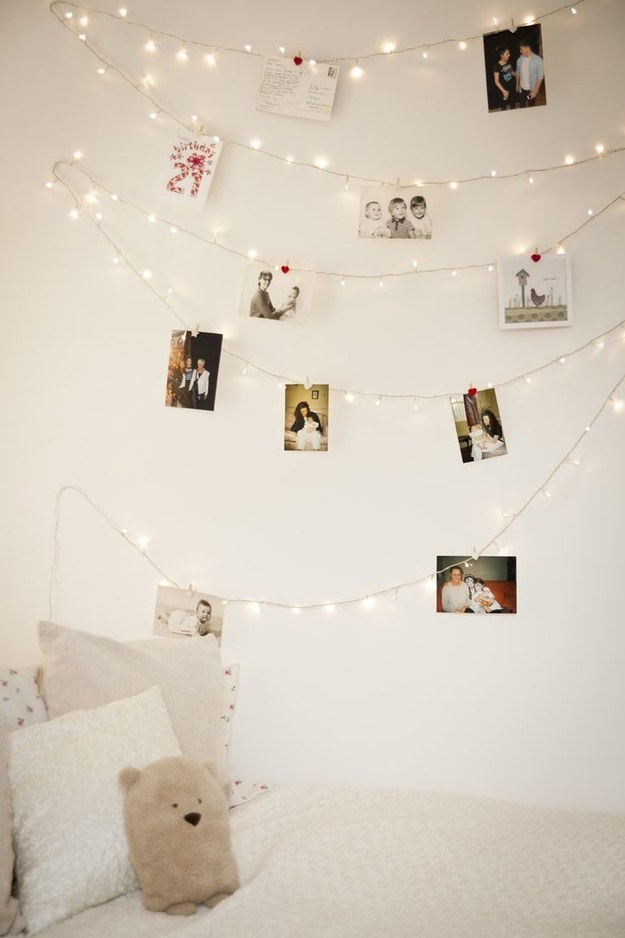 String Lights for Photo Display