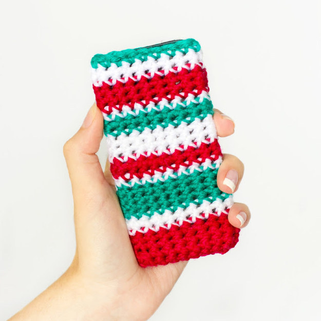 Striped Christmas Phone Case
