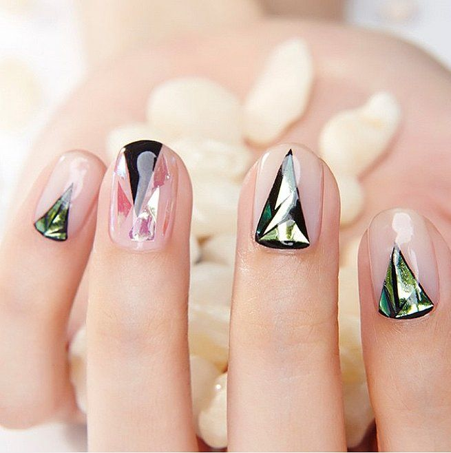 Triangle Glass Nails