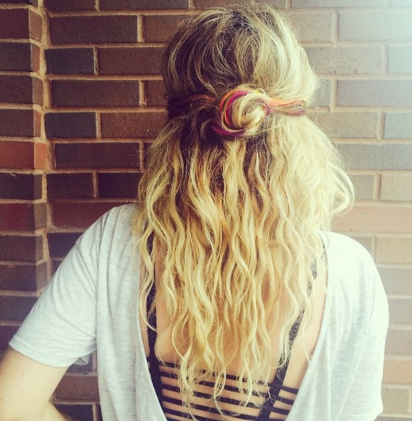 Twisted Half Up Half Down Hairstyle