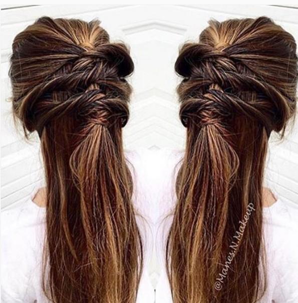 Twisty Half Up Half Down Hairstyle