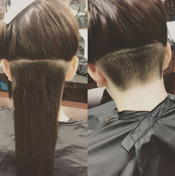 Undercut Hairstyle for Long Straight Hair