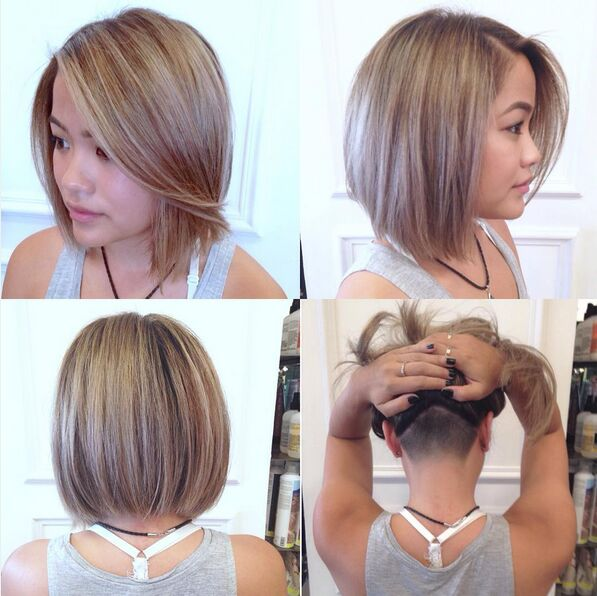 Undercut Straight Bob Hairstyle