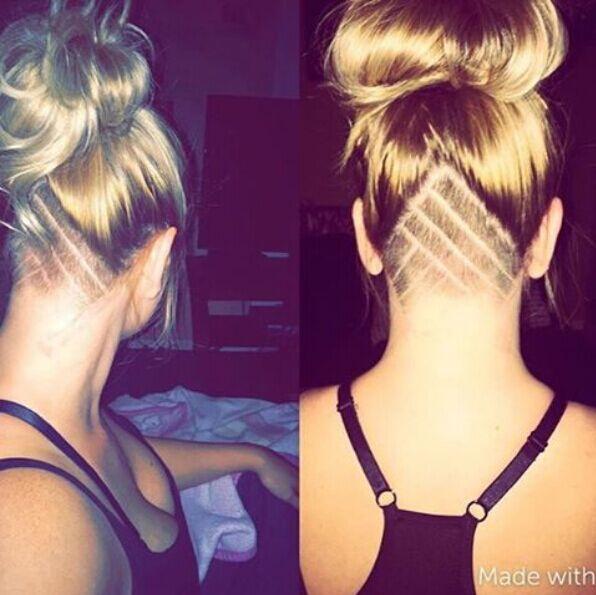 Undercut Updo Hairstyle
