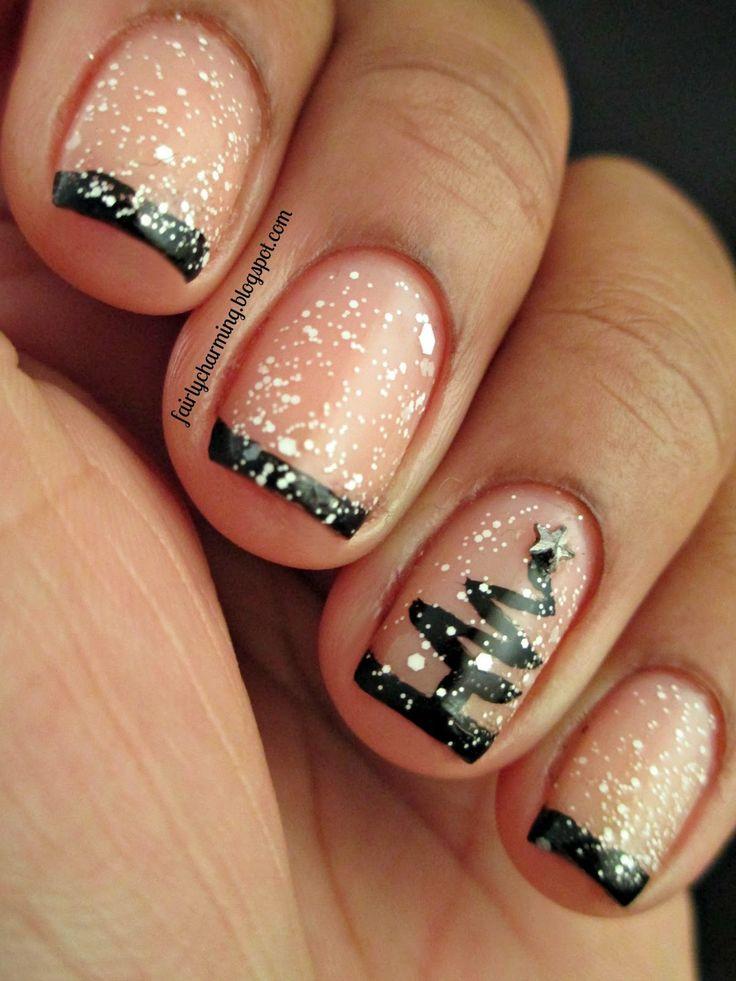 Идея дизайна ногтей фото зима