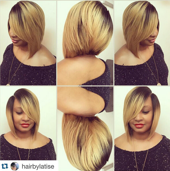 A-Line Bob Hairstyle for African American women