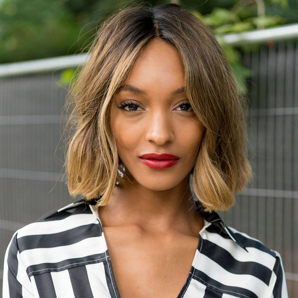 African American ombre bob hairstyle for thin hair