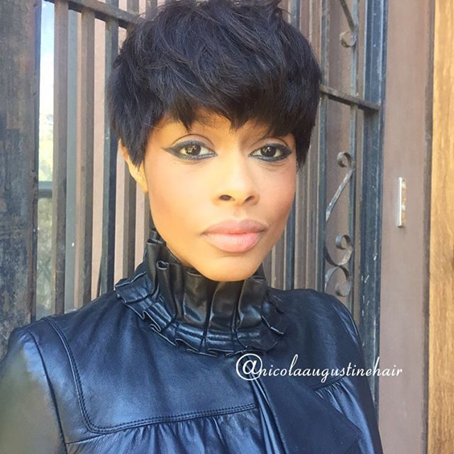 African American short pixie haircut for black women
