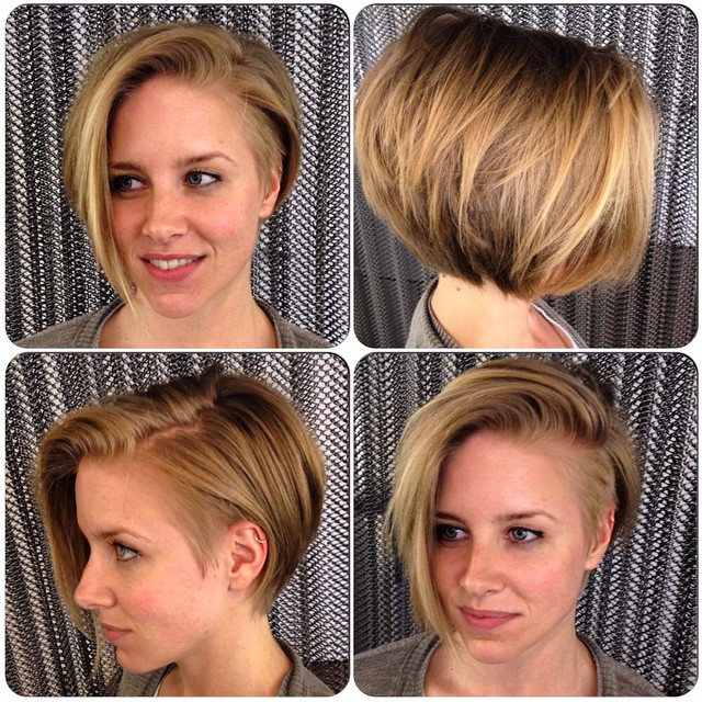 Angled Bob Hairstyles with layers