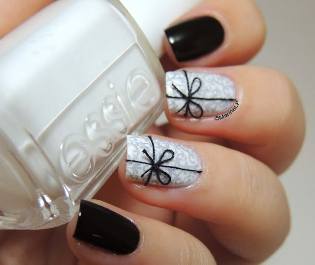 Black and Sliver Nails