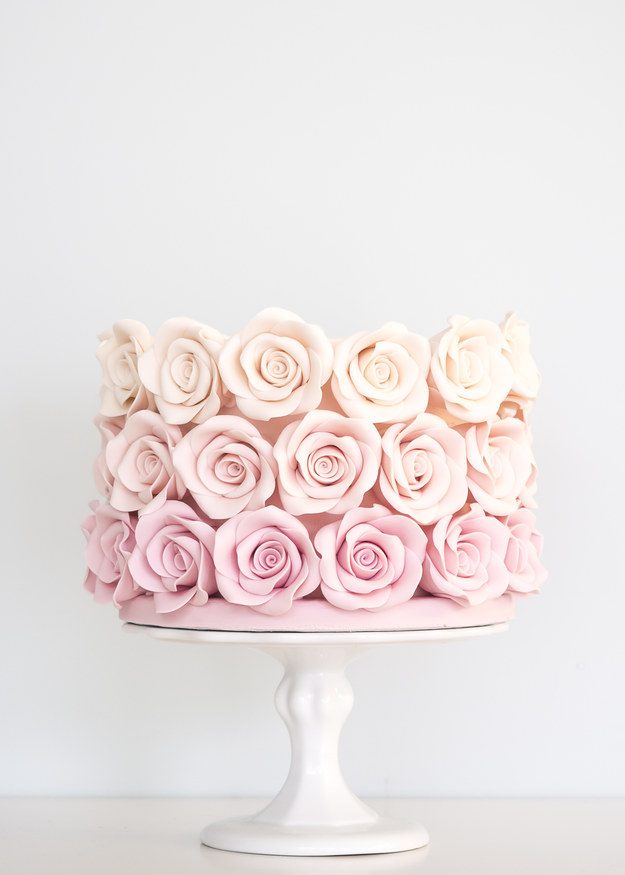 Cakes with Ombre Flowers