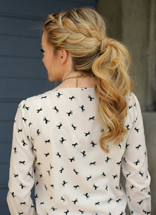 French Braid Ponytail for Everyday Hairstyles