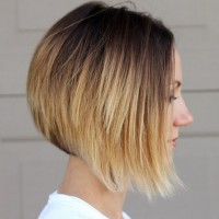 Chic-asymmetrical-ombre-bob-hairstyle-for-short-hair