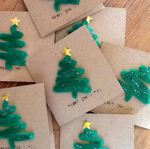 Christmas Tree Craft Cards