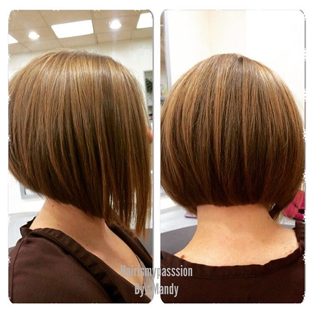 Classic a-line bob haircut for round face shapes